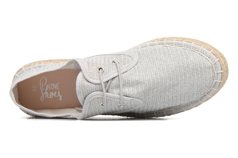 Alpargatas I Love Shoes Surmino Plateado vista lateral izquierda