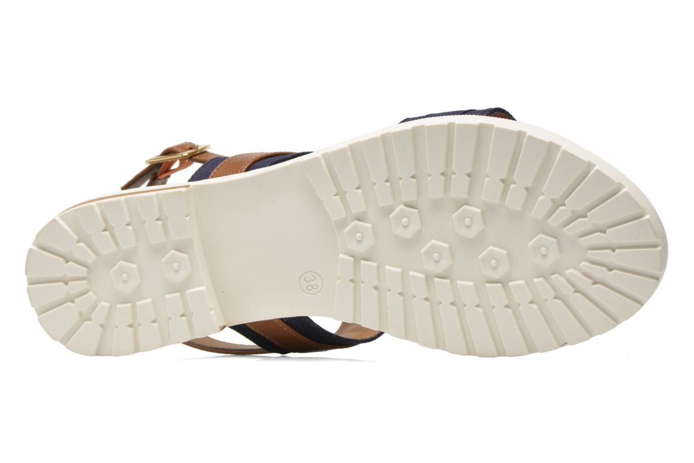 Sandales et nu-pieds I Love Shoes Subandi Bleu vue haut