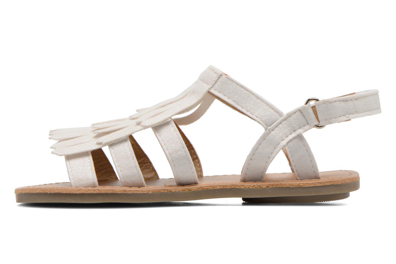 Sandales et nu-pieds I Love Shoes Kidfrange Blanc vue face