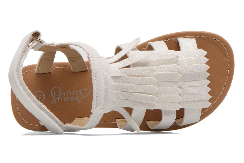 Sandales et nu-pieds I Love Shoes Kidfrange Blanc vue gauche