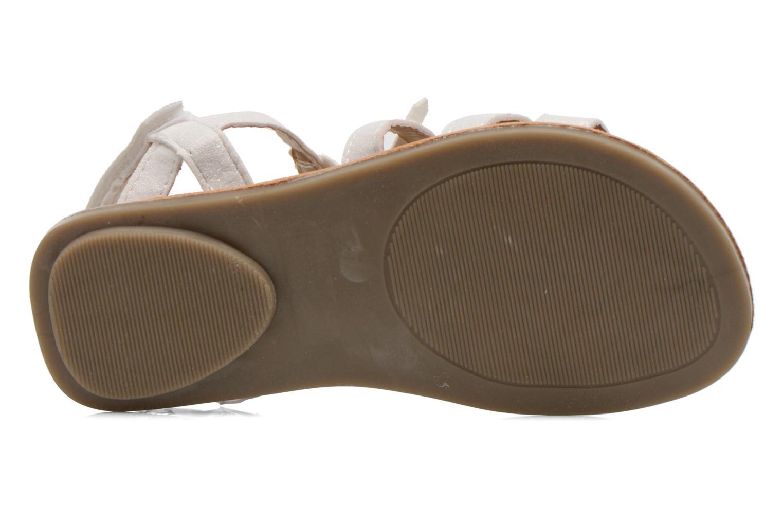 Sandales et nu-pieds I Love Shoes Kidfrange Blanc vue haut