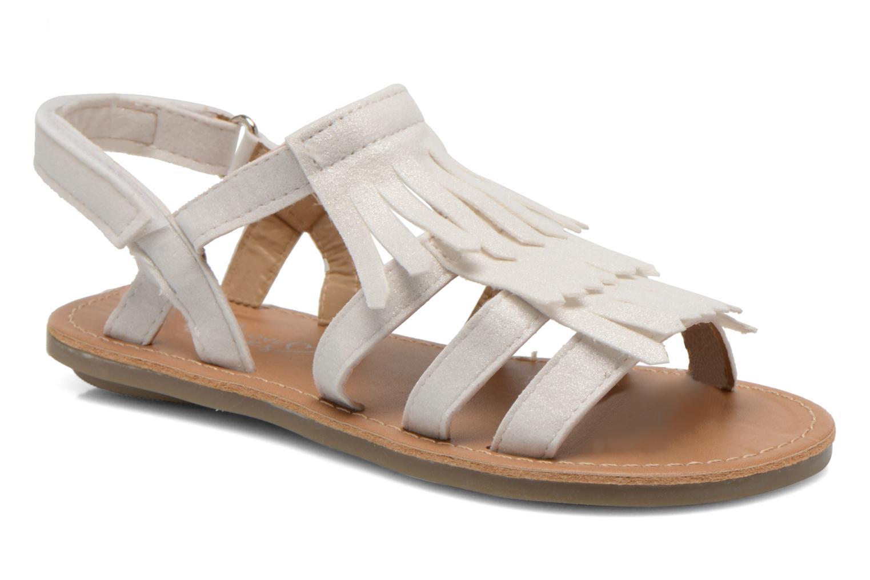 Sandales et nu-pieds I Love Shoes Kidfrange Blanc vue détail/paire