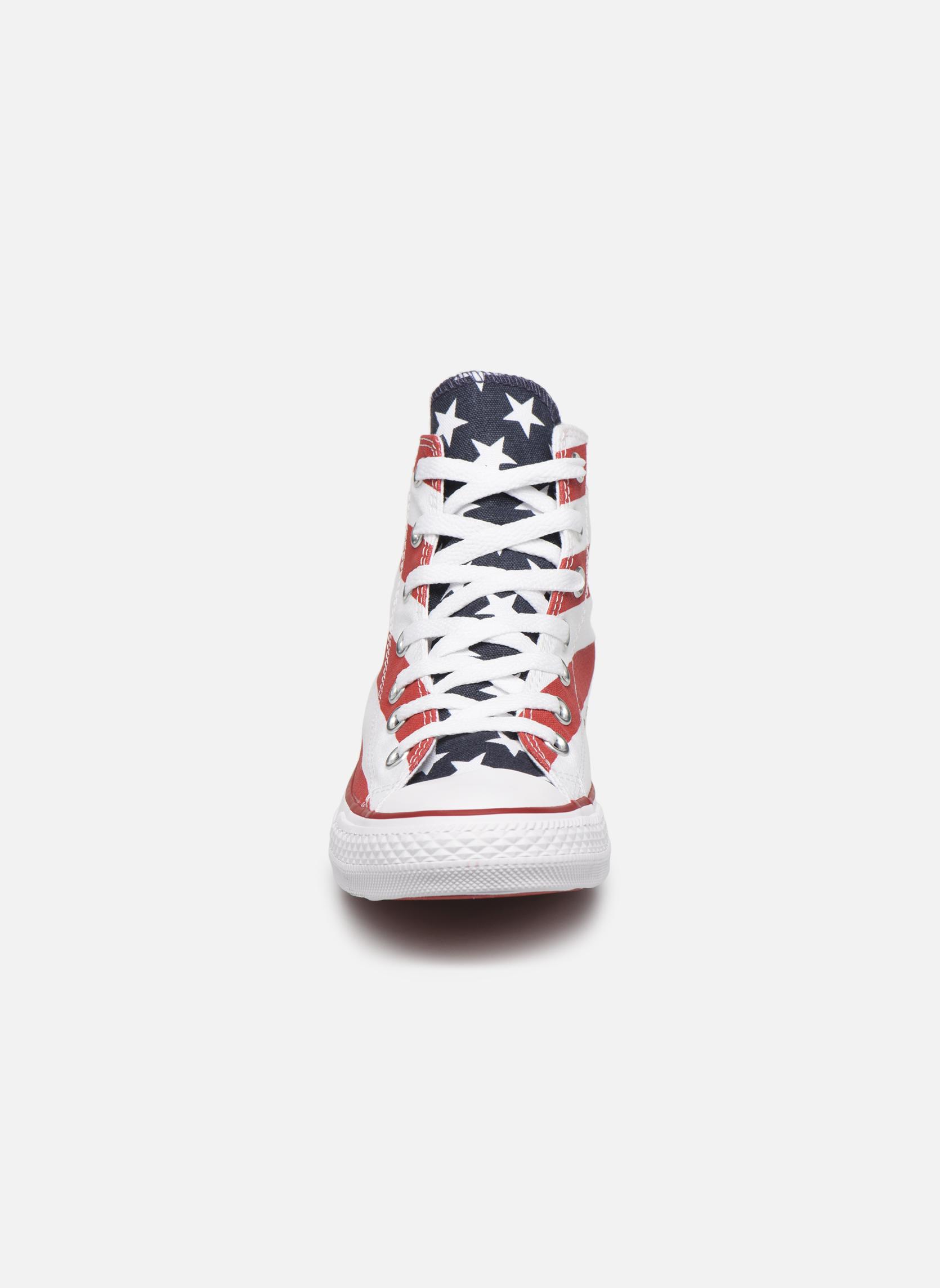 Baskets Converse Chuck Taylor Stars & Bars Hi W Multicolore vue portées chaussures