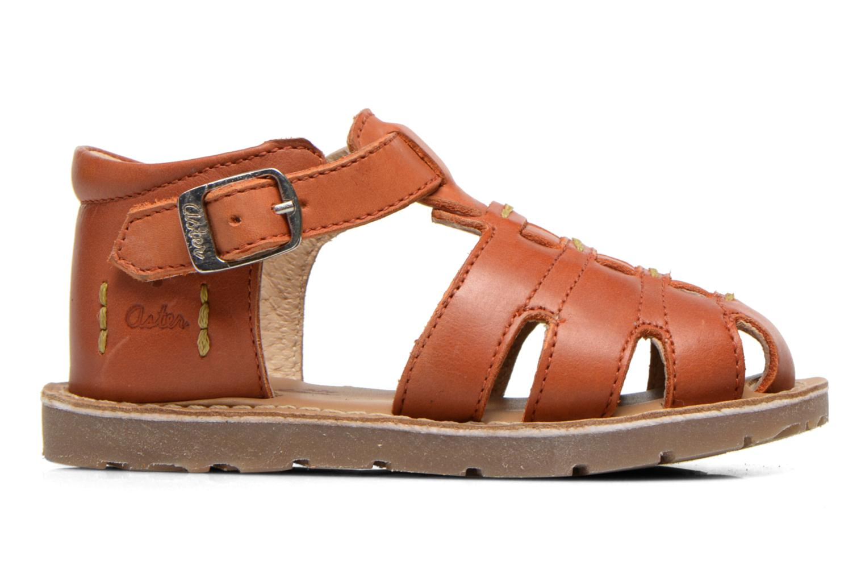 Sandales et nu-pieds Aster Ely Orange vue derrière