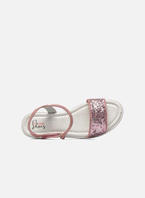 Sandales et nu-pieds I Love Shoes Supaillettes Rose vue gauche