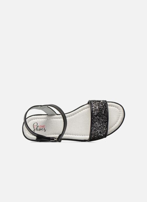 Sandales et nu-pieds I Love Shoes Supaillettes Noir vue gauche