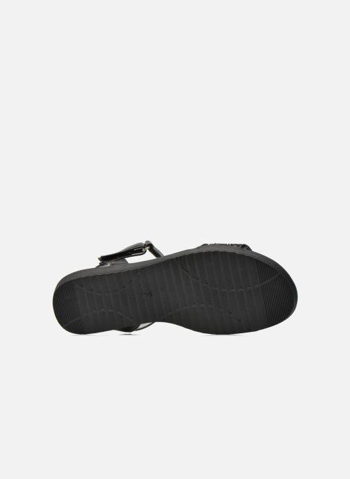 Sandales et nu-pieds I Love Shoes Supaillettes Noir vue haut