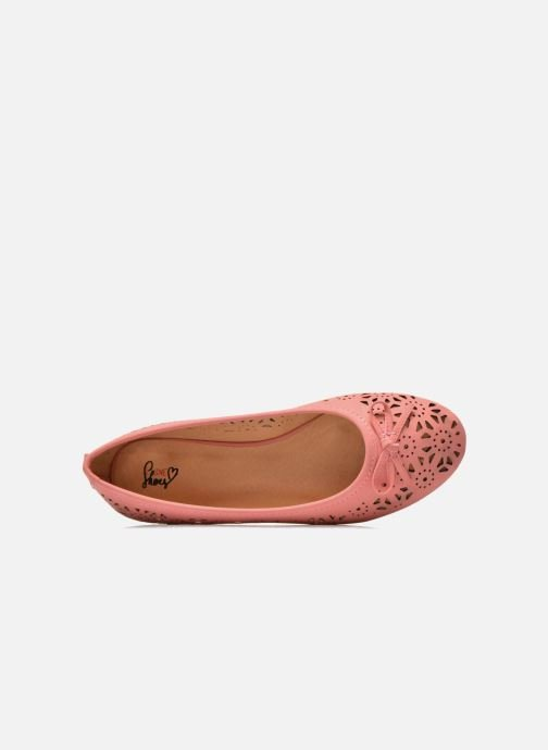Ballet pumps I Love Shoes Suflata Pink view from the left
