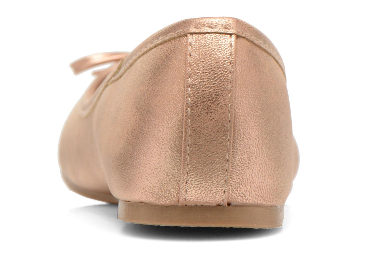 Ballerines I Love Shoes Sufllatina Or et bronze vue droite