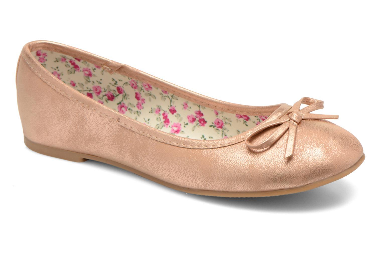 Ballerines I Love Shoes Sufllatina Or et bronze vue détail/paire