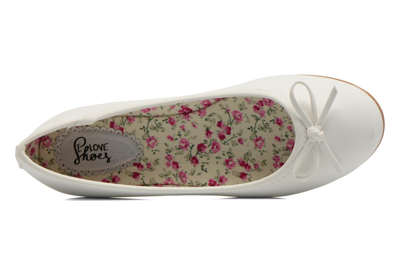 Ballerines I Love Shoes Sufllatina Blanc vue gauche