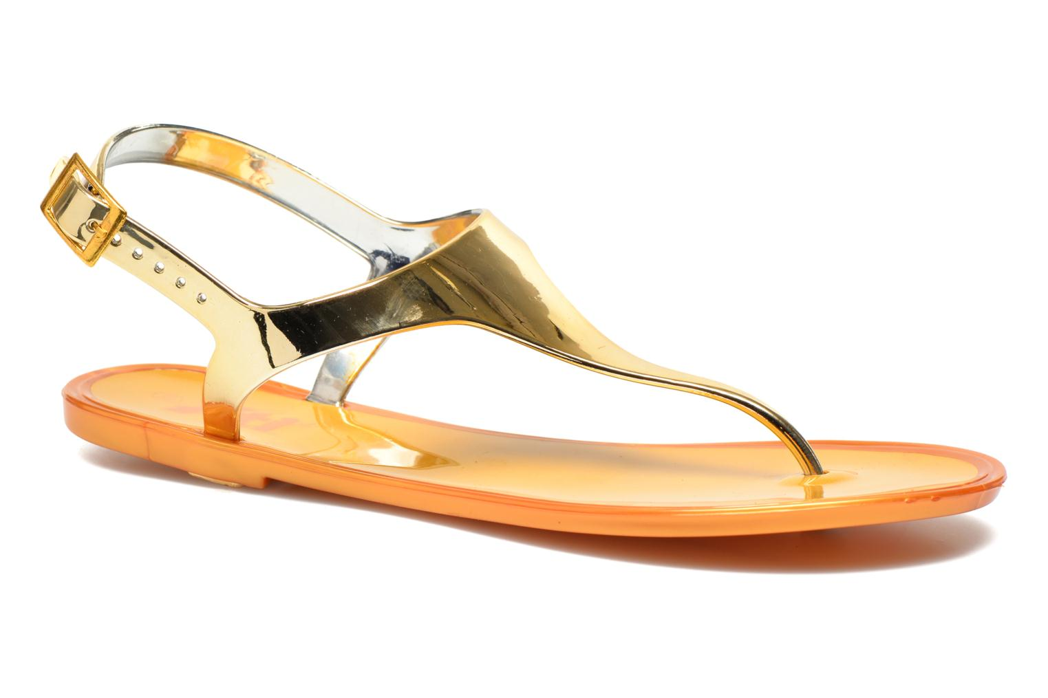 Sandals Xti Okinawa-26987 Bronze and Gold detailed view/ Pair view
