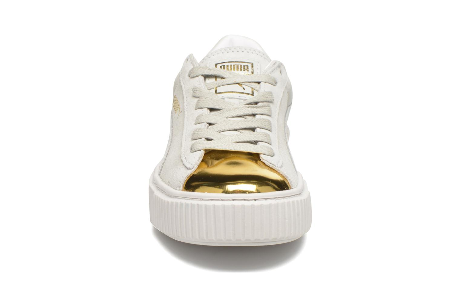 Baskets Puma WNS Suede Creepers Blanc vue portées chaussures