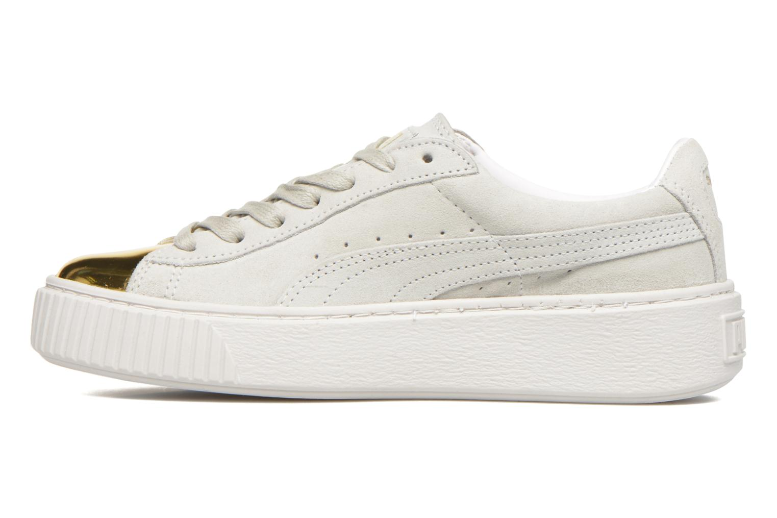 Baskets Puma WNS Suede Creepers Blanc vue face