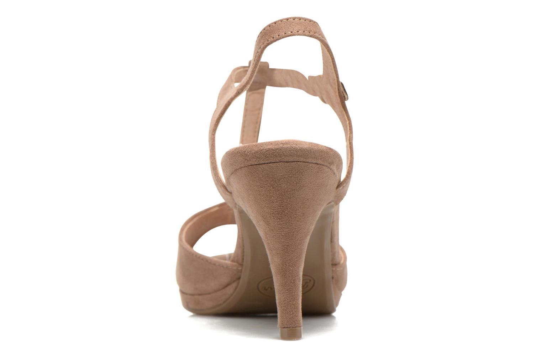 Sandales et nu-pieds Refresh Wanita Marron vue droite