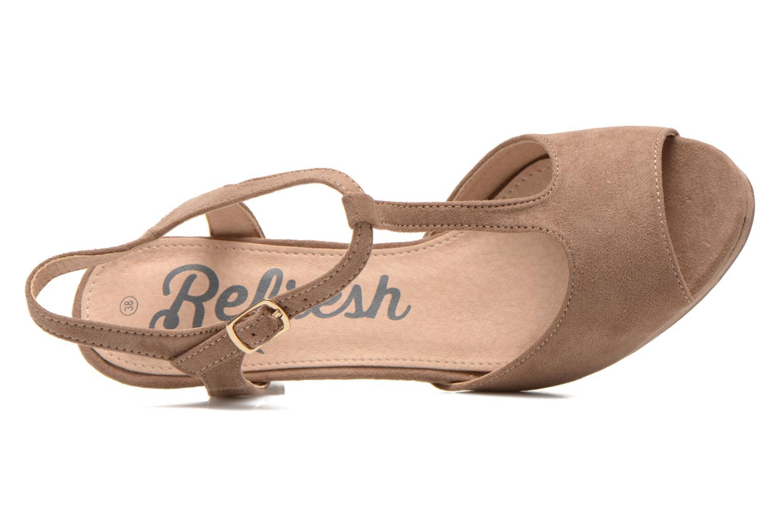 Sandales et nu-pieds Refresh Wanita Marron vue gauche