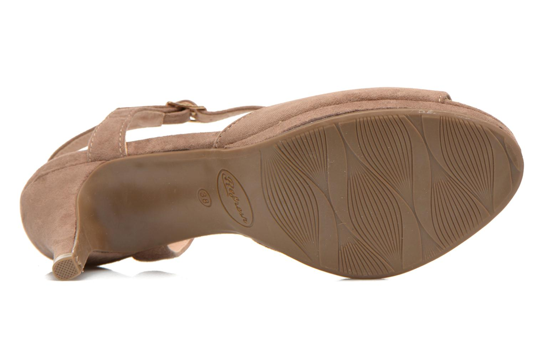 Sandales et nu-pieds Refresh Wanita Marron vue haut
