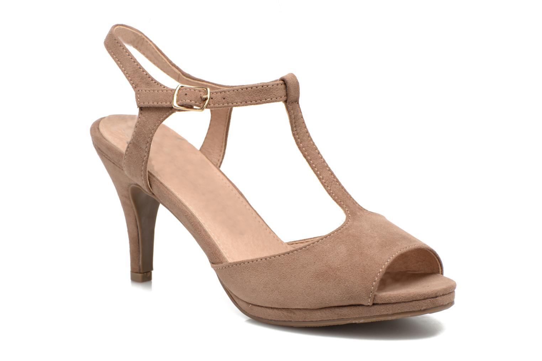 Sandales et nu-pieds Refresh Wanita Marron vue détail/paire
