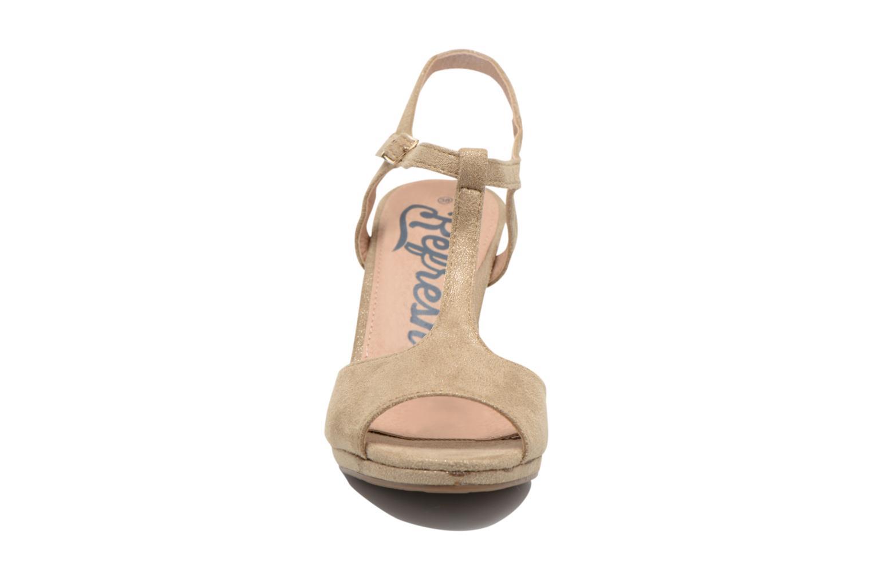 Sandales et nu-pieds Refresh Wanita Or et bronze vue portées chaussures