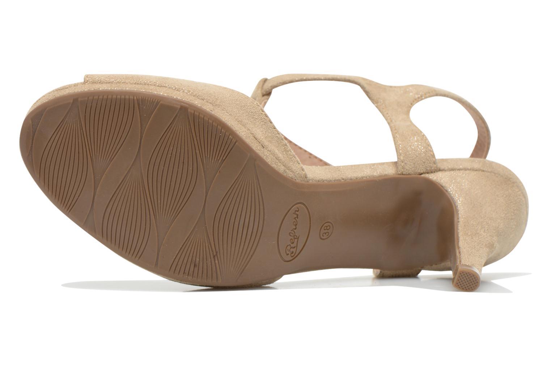 Sandales et nu-pieds Refresh Wanita Or et bronze vue haut