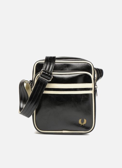 Herentassen Fred Perry Classic side bag Zwart detail
