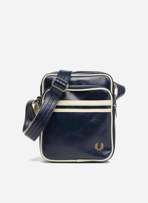Herentassen Fred Perry Classic side bag Blauw detail