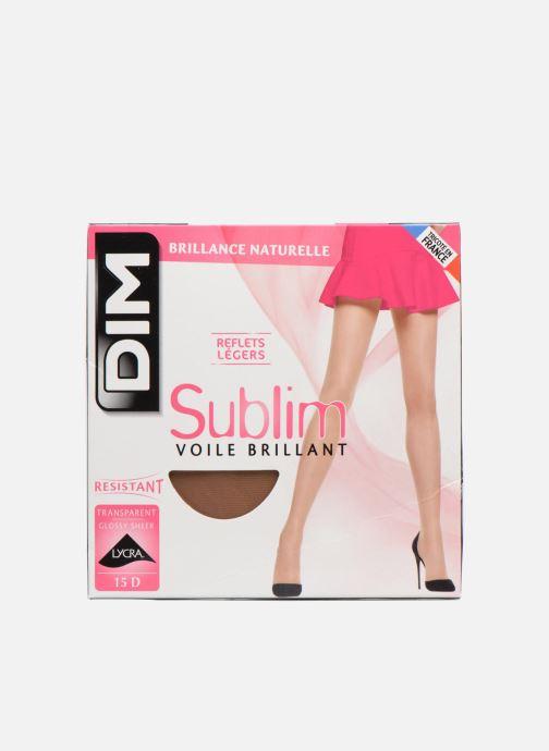 Strømper og tights Dim Strømpebukser SUBLIM VOILE BRILLANT Beige detaljeret billede af skoene