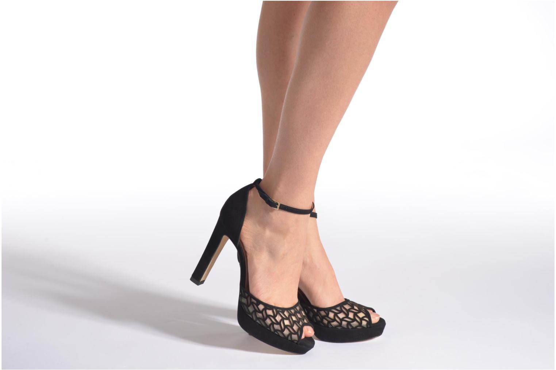 Sandales et nu-pieds L.K. Bennett Simone Noir vue bas / vue portée sac