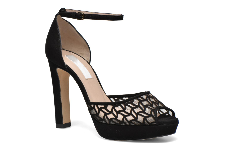 Sandales et nu-pieds L.K. Bennett Simone Noir vue détail/paire