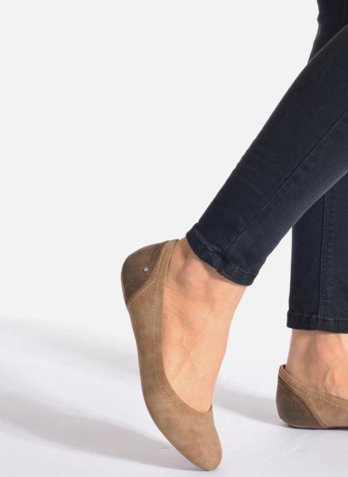 Ballerinas Esprit Aloa Ballerina 1 blau ansicht von unten / tasche getragen