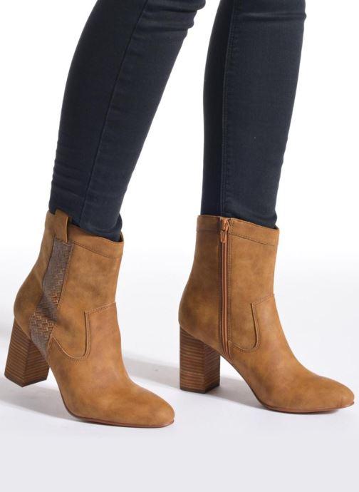Bottines et boots Esprit Flora Bootie Marron vue bas / vue portée sac