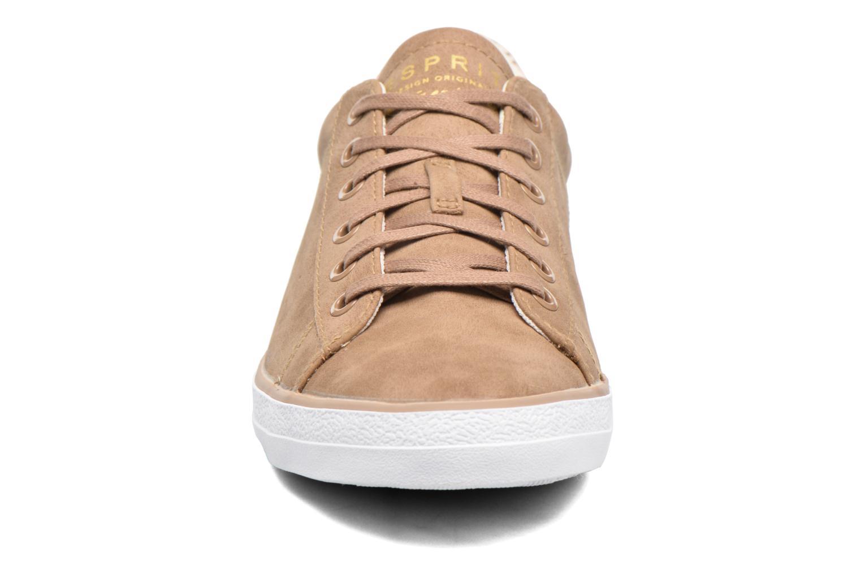 Sneaker Esprit Miana Lace Up braun schuhe getragen