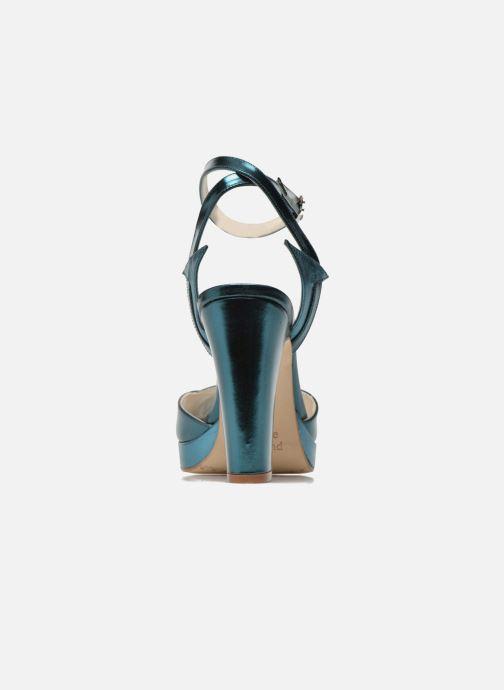 Sandalias Terry de Havilland MARISSA Azul vista lateral derecha