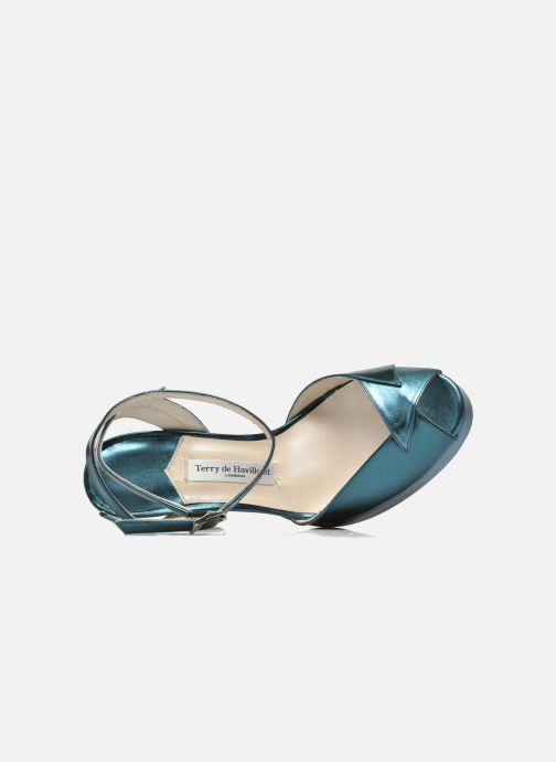 Sandales et nu-pieds Terry de Havilland MARISSA Bleu vue gauche