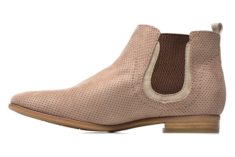 Bottines et boots Jana shoes Reva Beige vue face