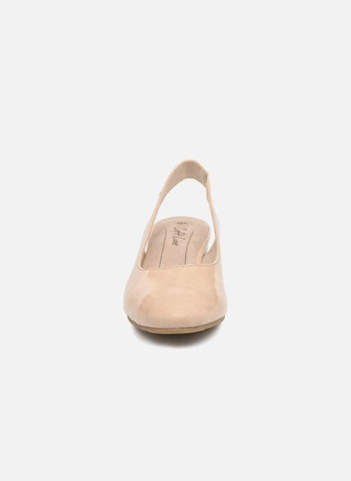 High heels Jana shoes Orina Beige model view