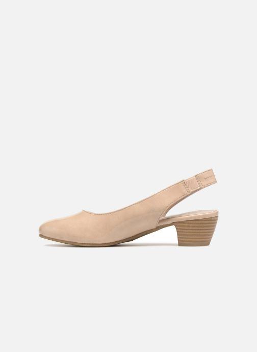 Zapatos de tacón Jana shoes Orina Beige vista de frente