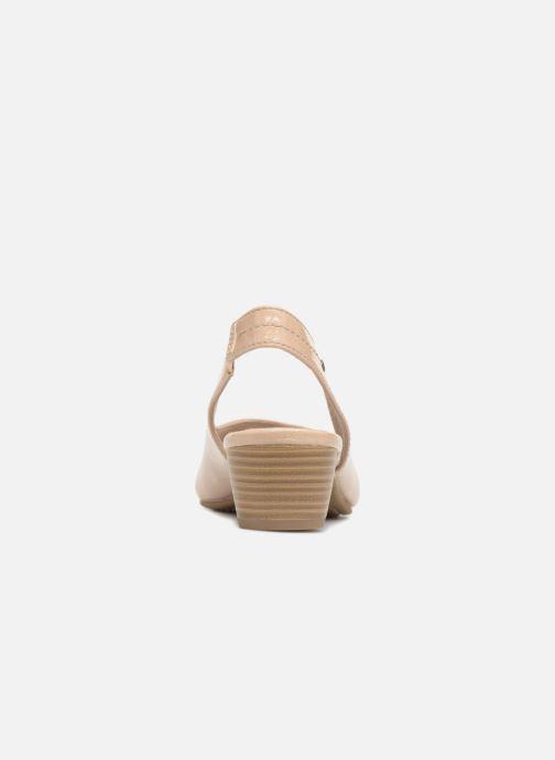 Zapatos de tacón Jana shoes Orina Beige vista lateral derecha