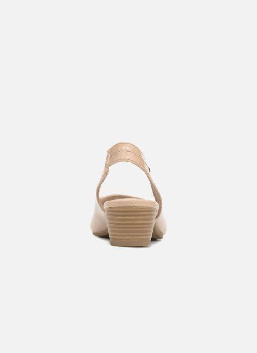 High heels Jana shoes Orina Beige view from the right