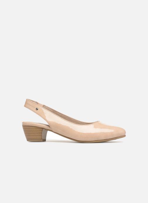 Zapatos de tacón Jana shoes Orina Beige vistra trasera