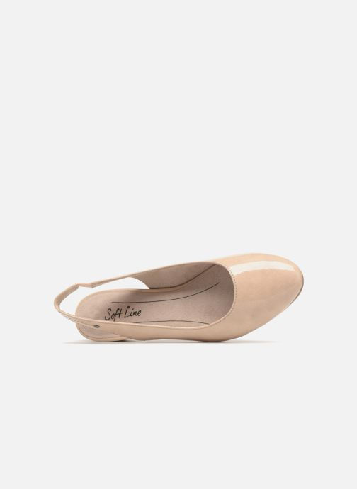 High heels Jana shoes Orina Beige view from the left