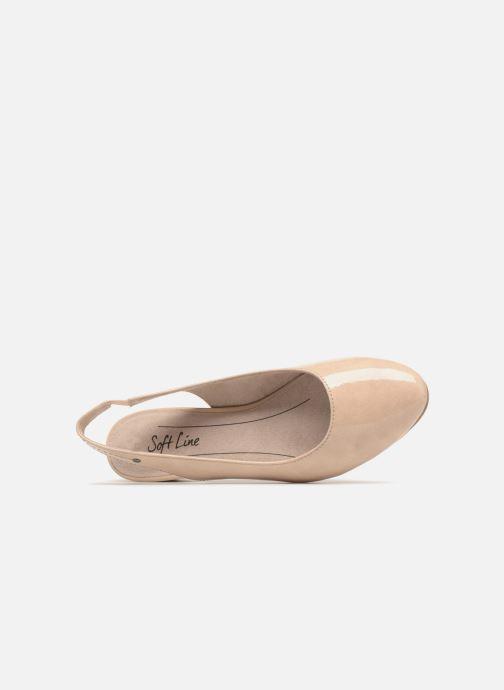Zapatos de tacón Jana shoes Orina Beige vista lateral izquierda