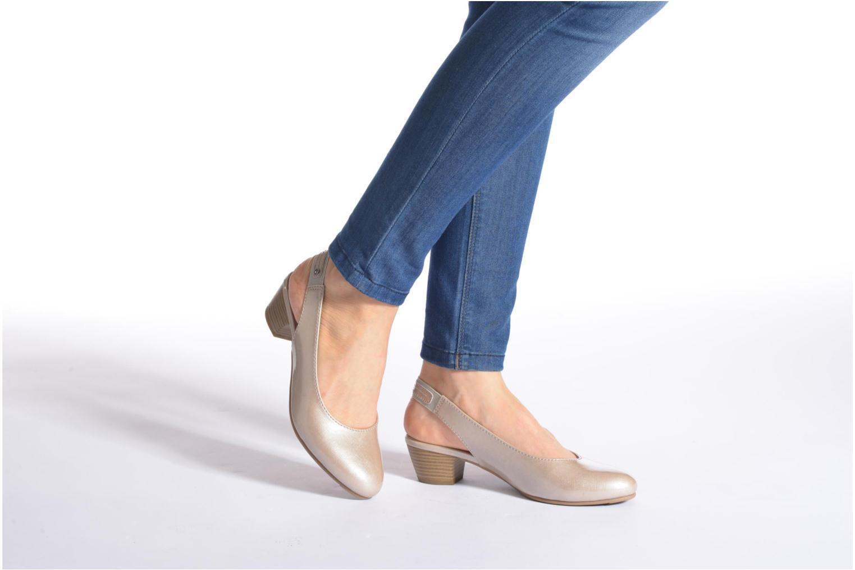 Escarpins Jana shoes Orina Bleu vue bas / vue portée sac