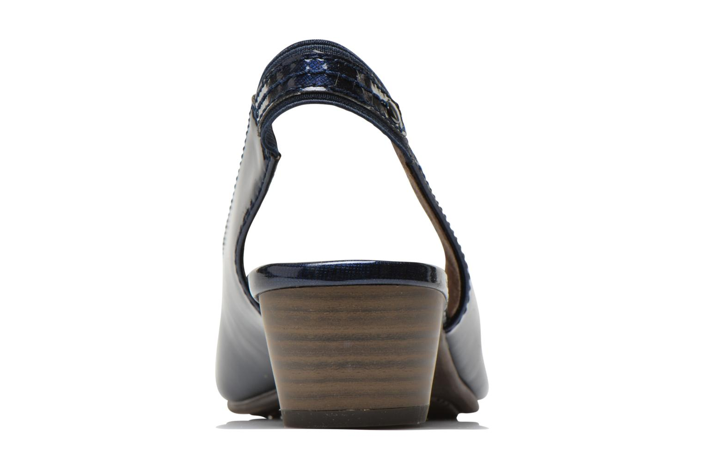 Escarpins Jana shoes Orina Bleu vue droite