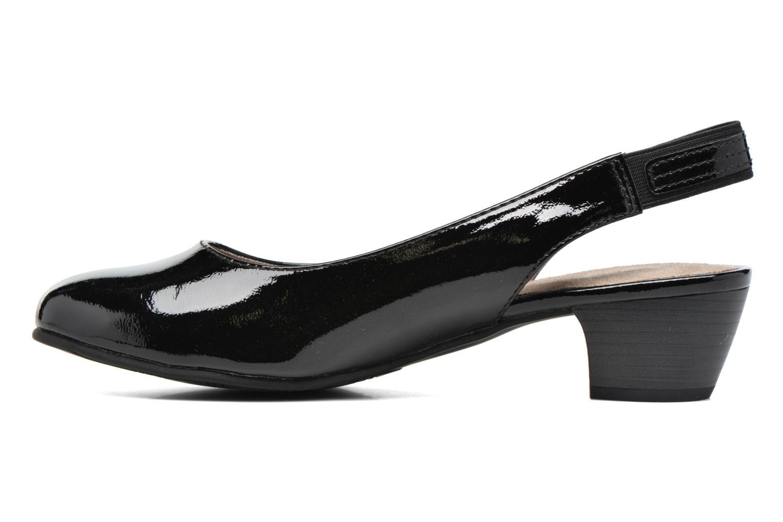 High heels Jana shoes Orina Black front view