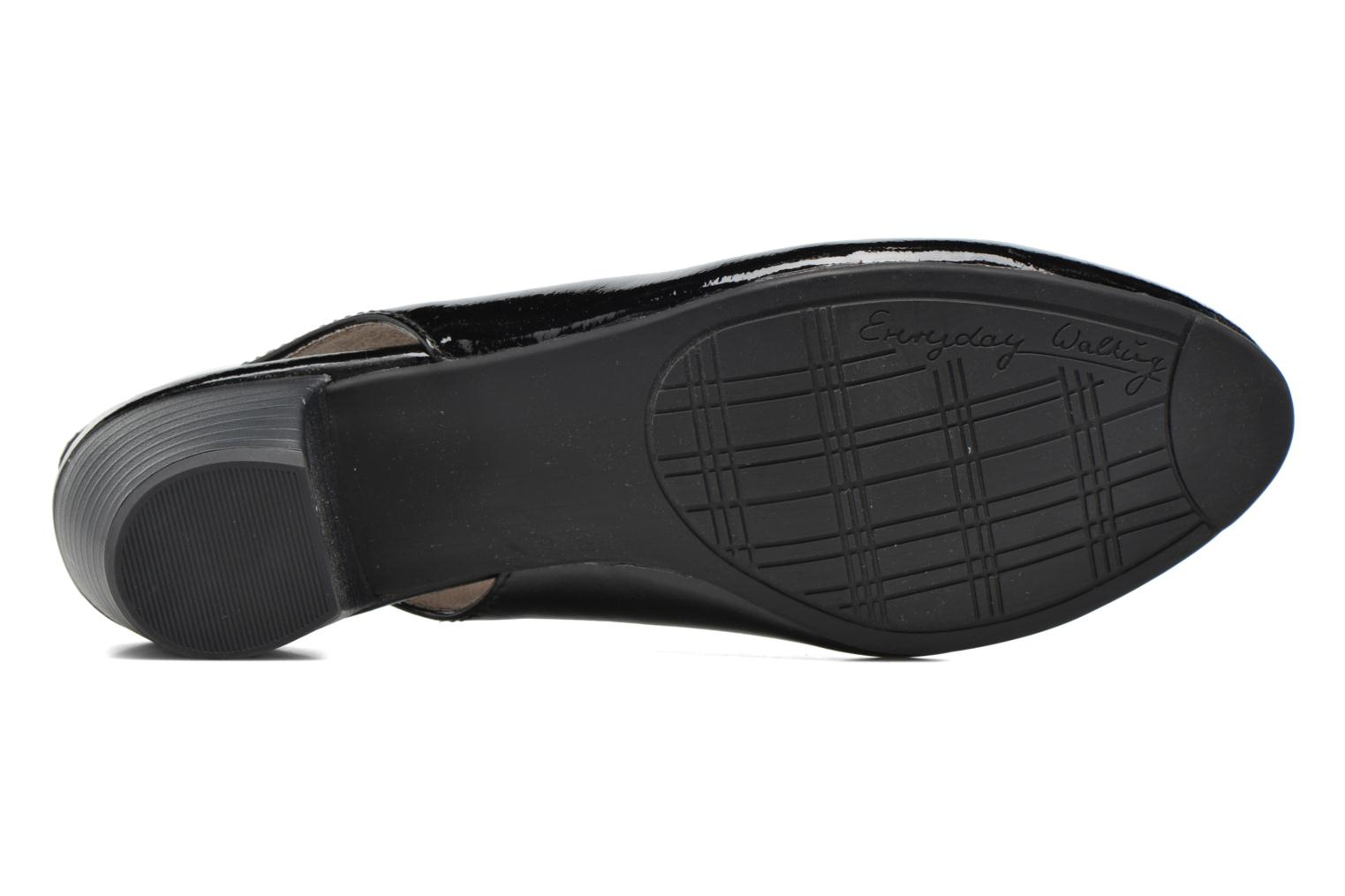 High heels Jana shoes Orina Black view from above