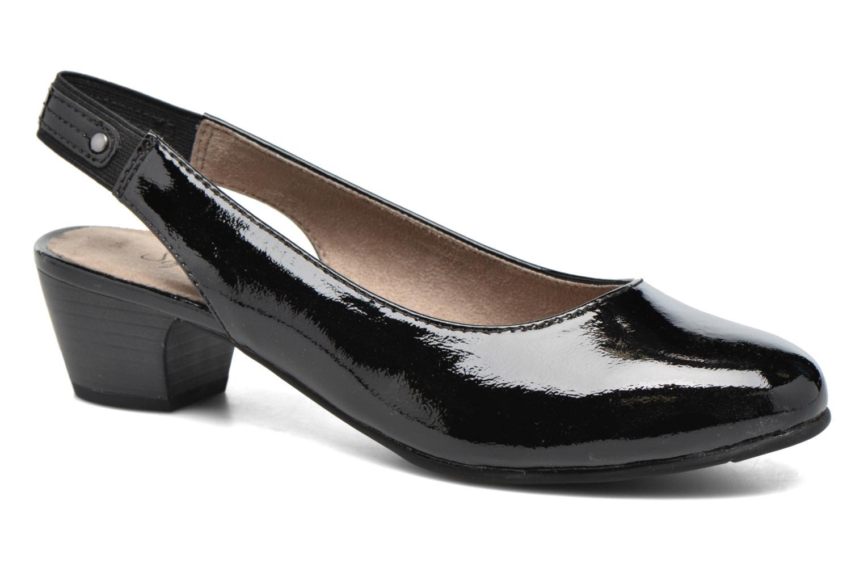 High heels Jana shoes Orina Black detailed view/ Pair view