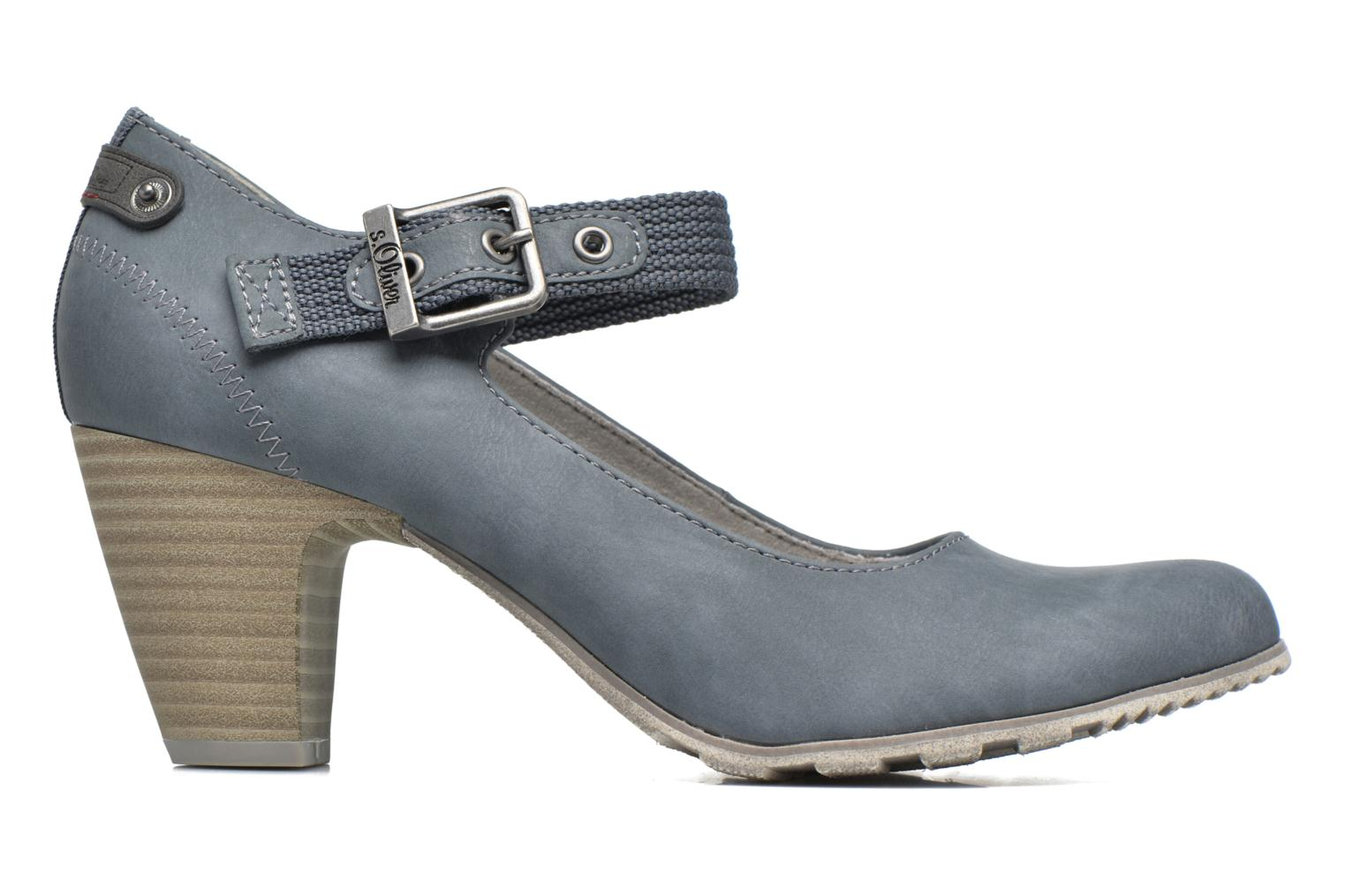 High heels S.Oliver Leby Blue back view