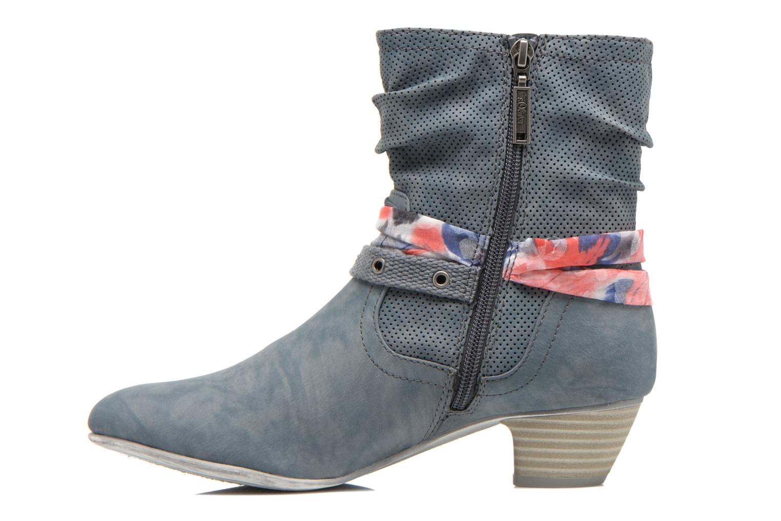 Ankle boots S.Oliver Lekiba Blue front view