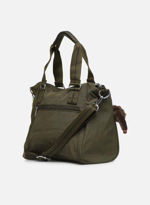 Handtaschen kipling Amiel grün ansicht von rechts